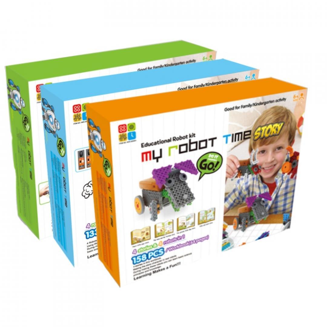 韩端·积木玩具机器人套装MyR...
